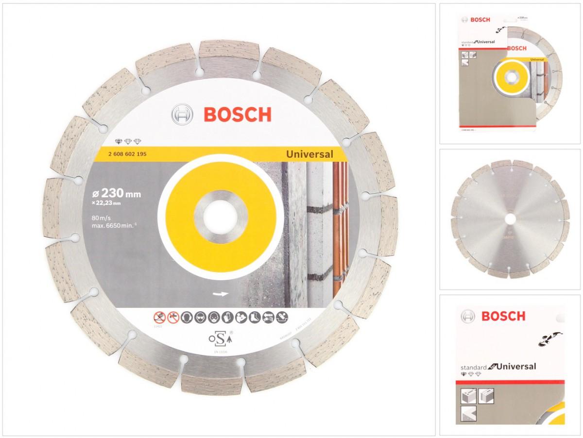 bosch diamant trennscheibe 230 x 22 23 mm standard for universal 2608602195 ebay. Black Bedroom Furniture Sets. Home Design Ideas