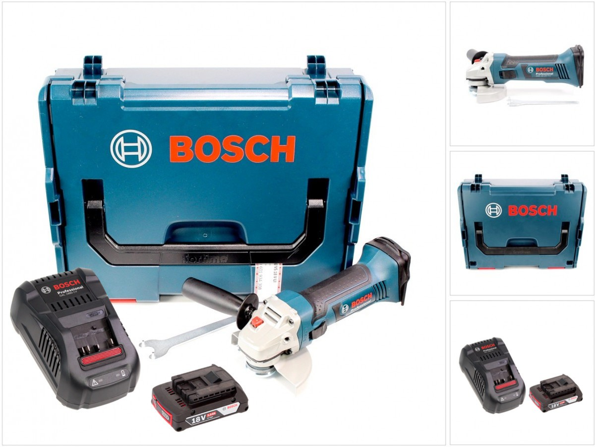 bosch gws 18 125 v li 125 mm akku winkelschleifer l boxx lader 1x2 ah akku ebay. Black Bedroom Furniture Sets. Home Design Ideas