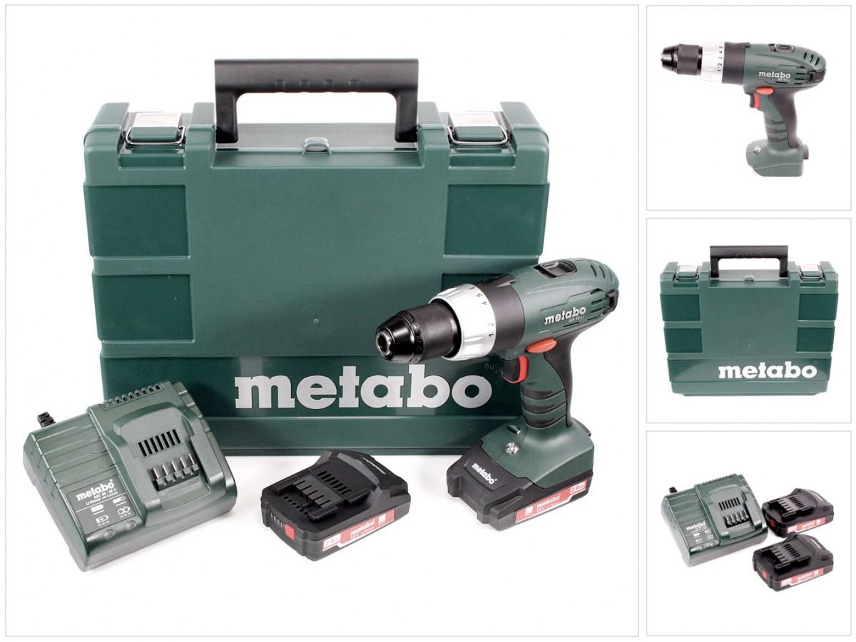 metabo sb 18 li akku schlagbohrschrauber 2x2ah akku lader koffer 602190510 ebay. Black Bedroom Furniture Sets. Home Design Ideas