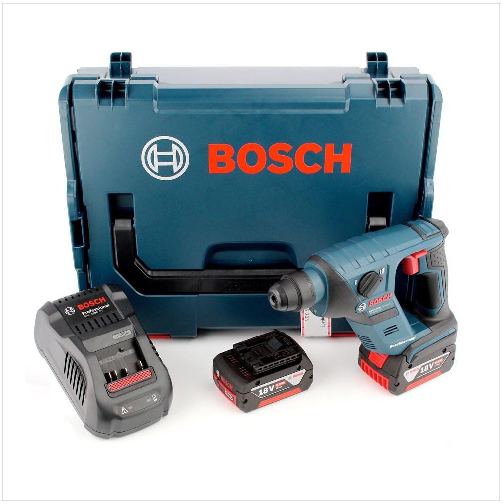 bosch gbh 18 v li compact bohrhammer in l boxx mit 2x gba 5 ah akku lader ebay. Black Bedroom Furniture Sets. Home Design Ideas