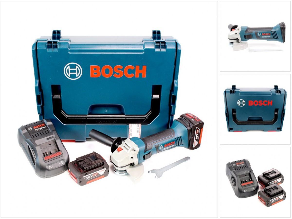 bosch gws 18 125 v li 125 mm akku winkelschleifer 2x 5 0 ah lader l boxx ebay. Black Bedroom Furniture Sets. Home Design Ideas