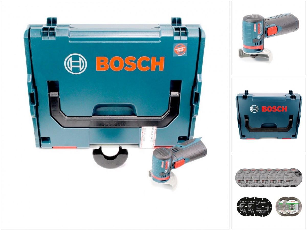 bosch gws 10 8 76 v ec akku winkelschleifer trennscheiben set in l boxx ebay. Black Bedroom Furniture Sets. Home Design Ideas