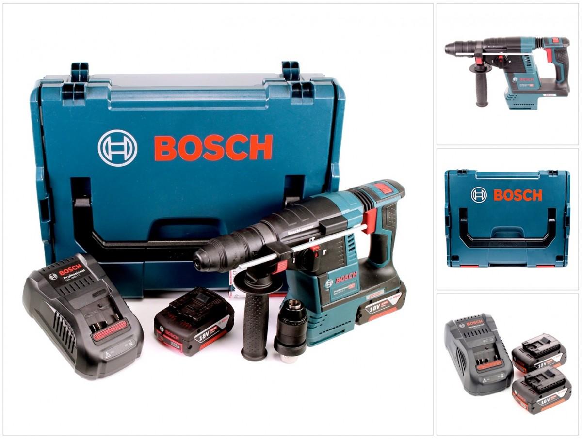 bosch gbh 18 v 26 f akku bohrhammer sds plus in l boxx 2 x gba 5 ah und lader ebay. Black Bedroom Furniture Sets. Home Design Ideas